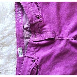 Gap 1969 Fuchsia/Purple Skinny Jeans